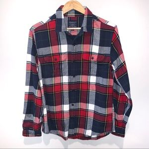 American Eagle Mens Plaid Flannel Long Sleeve